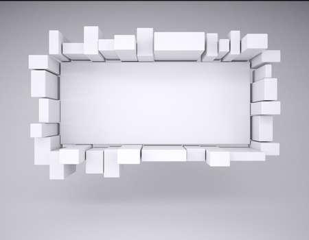 adboard: Advertising board  Studio render on a gray background