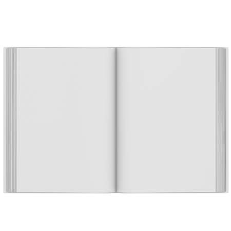 open diary: Open book  3d render isolated on white background
