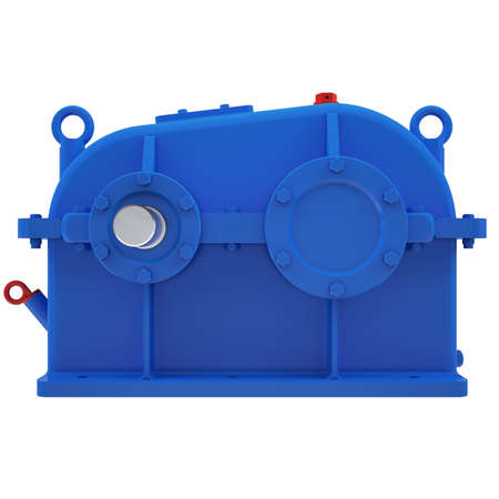 greasing: Industrial gear unit  3d render isolated on white background