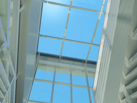 Architecture  staircase and windows  3d render  Top view photo