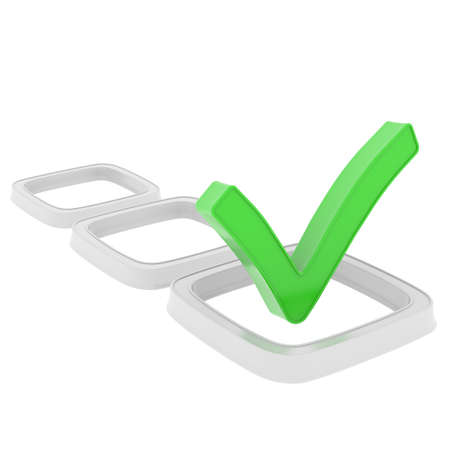 Checkboxes  Isolated render on a white Stock Photo - 22722883