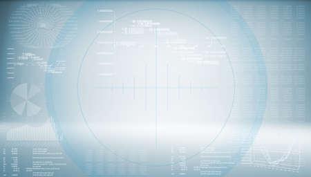 ハイテク ブルー背景未来技術の概念