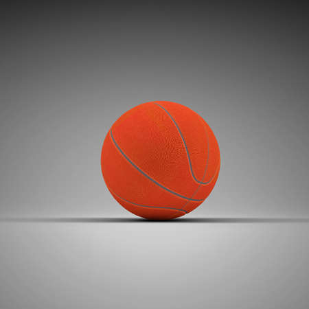 Basketball  3d rendering of a gray background photo