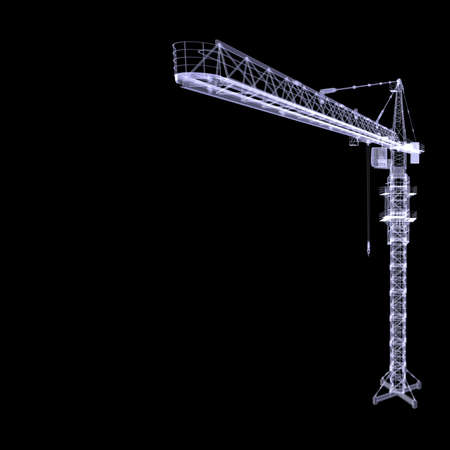 X-ray tower crane  3d rendering  photo