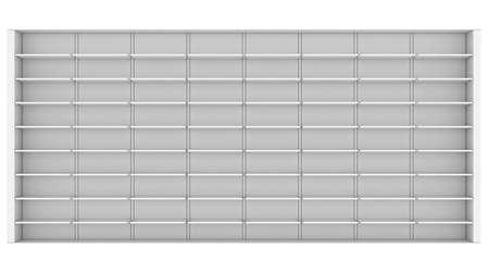 Large white shelves  3d render isolated on white background photo