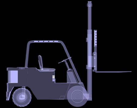 Loader  X-ray  3d render isolated on a black background photo