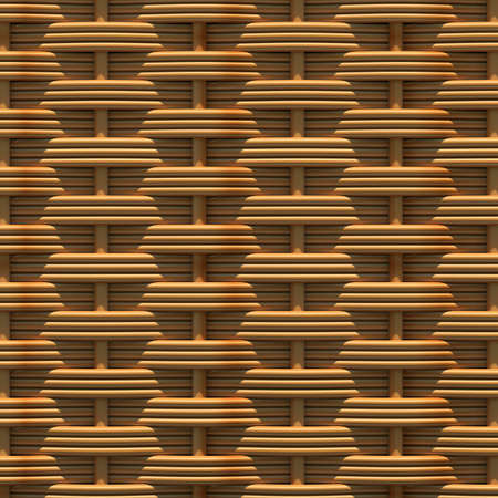 Woven rattan with natural patterns  The 3d render photo