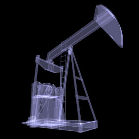 Oil pump  X-ray  3d render isolated on a black background photo
