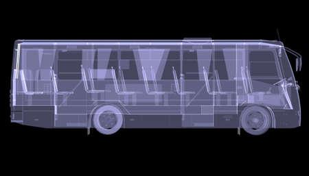 X 線分離されたバスの大きな黒の背景上で 3 d のレンダリング 写真素材 - 23214273