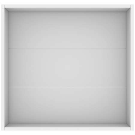 White open box  3d render isolated on white background photo