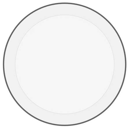 Glass circle  3d rendering on white background photo