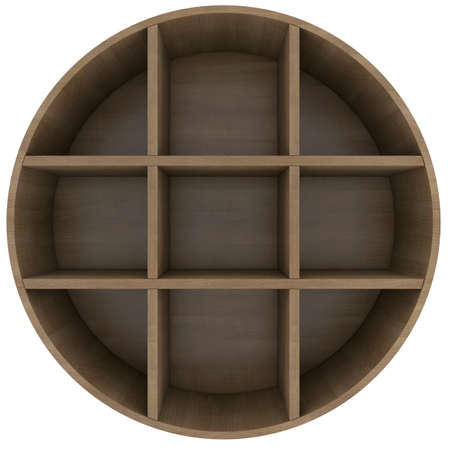 Shelves in the shape of a circle  3d rendering on white background photo