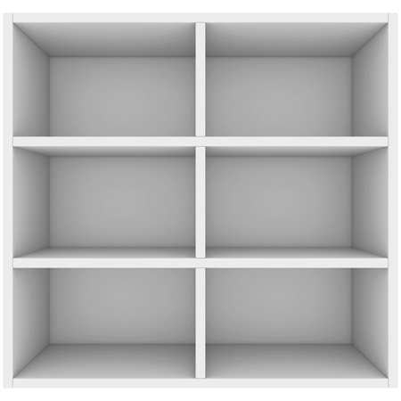 White shelves  3d render isolated on white background Stock Photo - 23287062