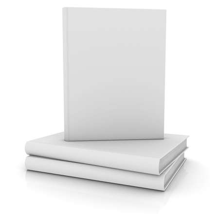 White books  Isolated render on a white background