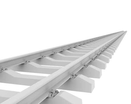 sleeper: White railroad  3d rendering on white background