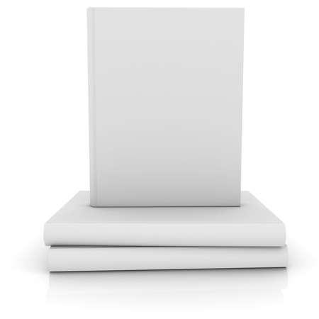 Weiß Bücher isoliert auf weißem machen Standard-Bild - 23770815