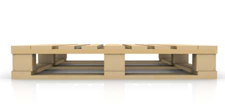 palet: Pallet de madera render aislado en un blanco