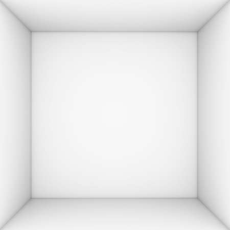 gift box open: White open box  3d render isolated on white