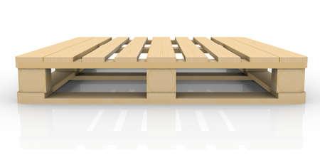 白の木製パレット分離されたレンダリングします。