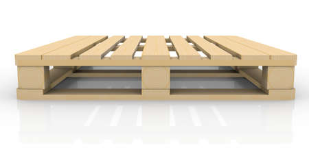 Wooden pallet  Isolated render on a white