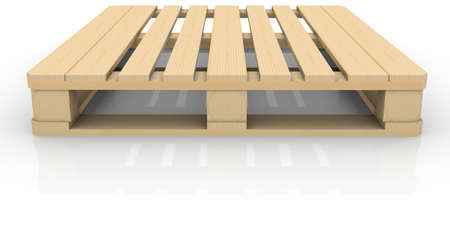 Wooden pallet  Isolated render on a white background