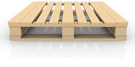 palet: Pallet de madera render aislado en un fondo blanco Foto de archivo