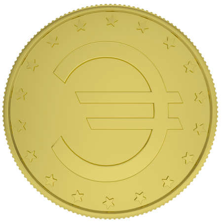 Gold euro  Isolated render on a white background photo
