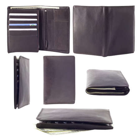 Collection of photographs of male wallet  Six images from different angles photo