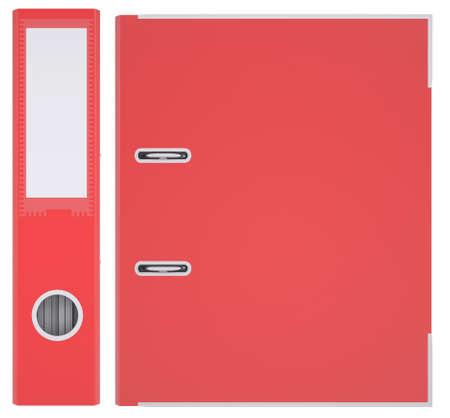 白い背景の赤い office フォルダー分離されたレンダリングします。 写真素材