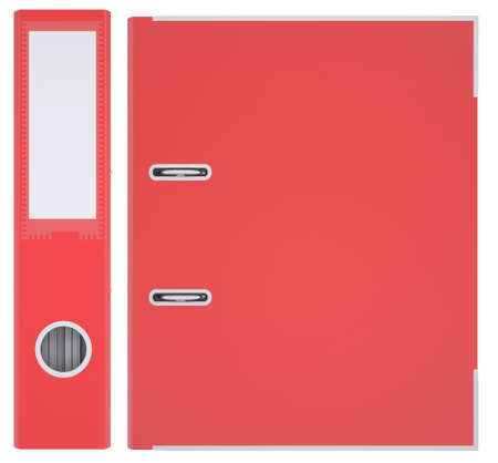 Red office folder  Isolated render on white background