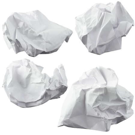 Crumpled paper  Four lump  The design elements Stock Photo - 24685548