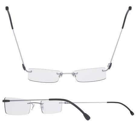 Modern glasses  Isolated render on a white background photo