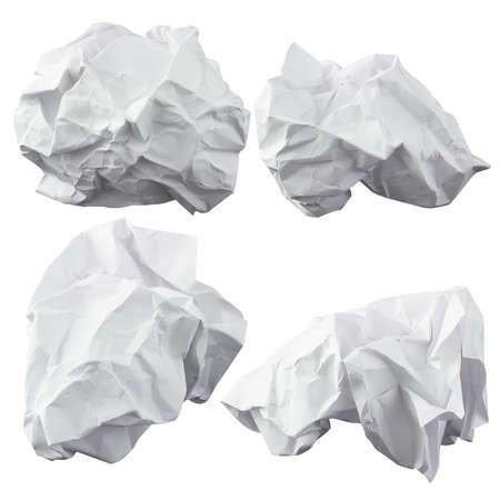Crumpled paper  Four lump  The design elements photo