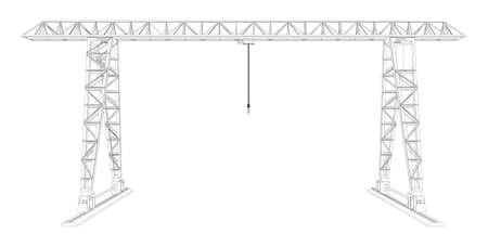 Gantry crane  Wire-frame  Vector EPS10 format  Vector rendering of 3d Vector