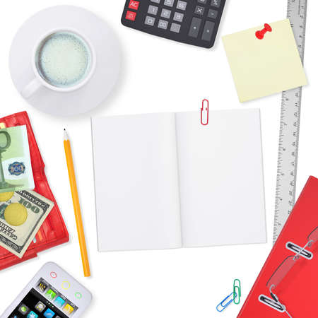 Office supplies  The concept of buisness office photo