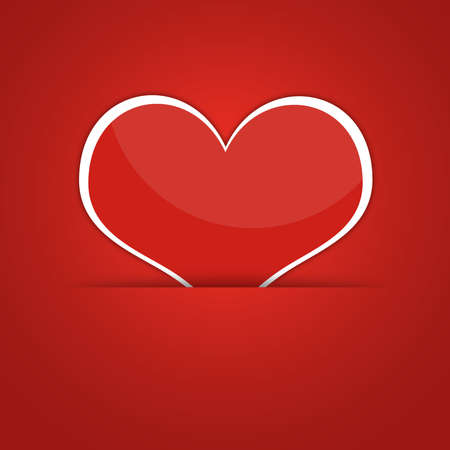 Red heart  Abstract background  The concept of Valentine s Day photo