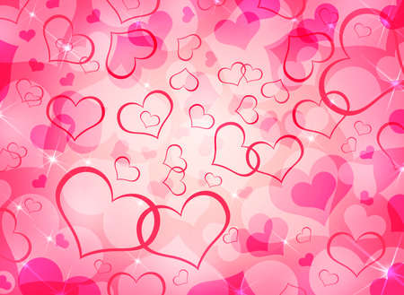 Abstract background of red hearts  The concept of Valentine s Day photo