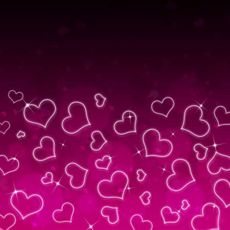 valentine s day background: Abstract background of hearts  The concept of Valentine s Day Stock Photo