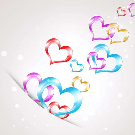 Abstract background of hearts  The concept of Valentine s Day Stock Photo