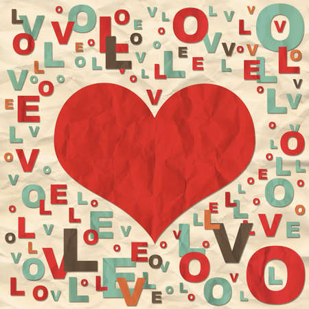Frame consisting of letters  The concept of Valentine s Day photo