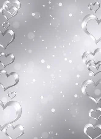 心のバレンタインの s 日の概念と抽象的なフレーム 写真素材