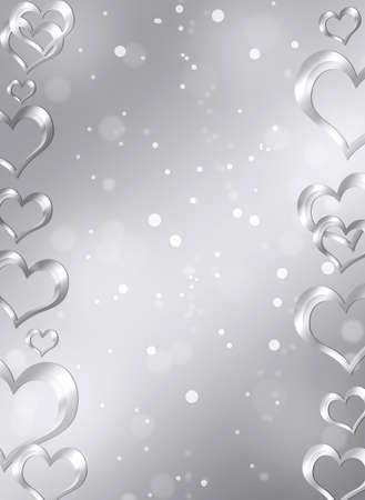 Abstract frame with hearts  The concept of Valentine s Day