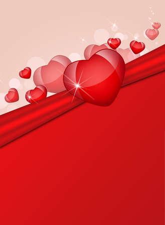 Abstract background of hearts  The concept of Valentine s Day photo