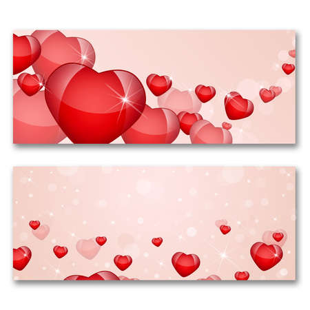 Card with hearts  The concept of Valentine s Day photo