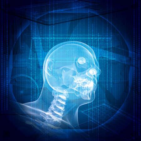 X-ray image of a man head photo