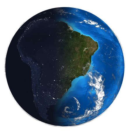 meridiano: Fotorrealista Día de la Tierra y de la noche Foto de archivo