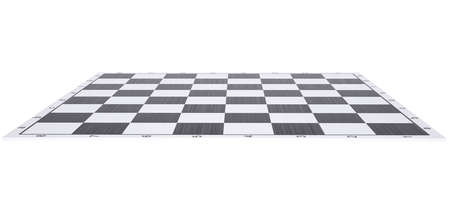 Empty chessboard  Render on a white background