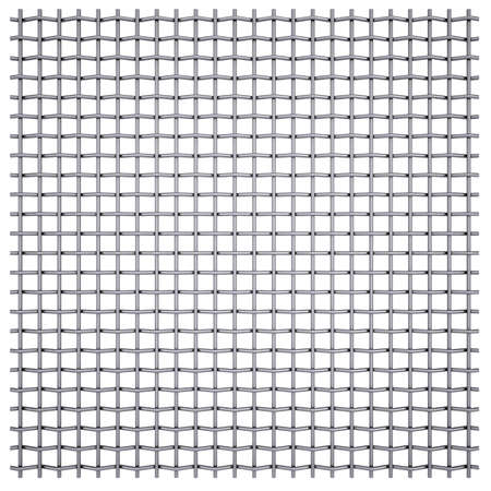galvanized: Metal mesh  Isolated render on a white background