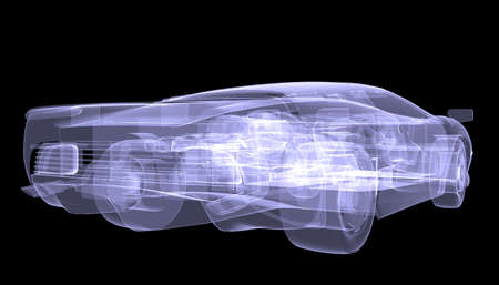 X-ray concept car  Isolated render on a black background photo