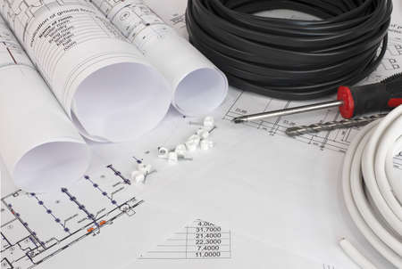 electrical engineer: Electrical cable on the construction drawings  Repair and construction of electric systems
